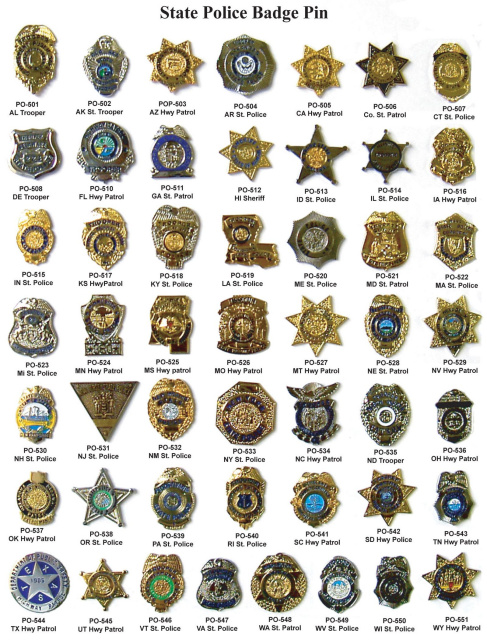 State Police Badge Pins