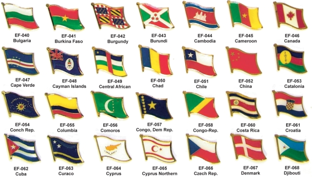 page 1 world flag pins