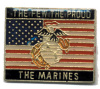 pin 3010 The Few The Proud The Marines w/ American US Flag