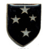 pin 4754 Blue Shield w/ 4 White Stars