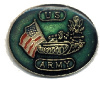 pin 573 US Army with Tank and American Flag