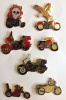7 Different Motorcycle Biker Pins