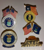5 Different Air Force Hat Lapel Pins