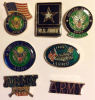 7 Different US Army Hat Lapel Pins