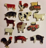 13 Different Farm Animal / Tractor Pins