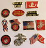 Lof of 12 Different Marine Corps Pins